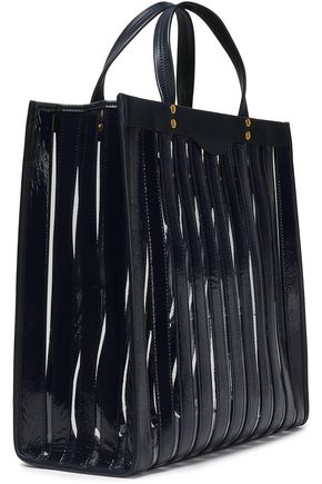 fd26b61ab54e ANYA HINDMARCH Multi Stripes leather and PVC tote