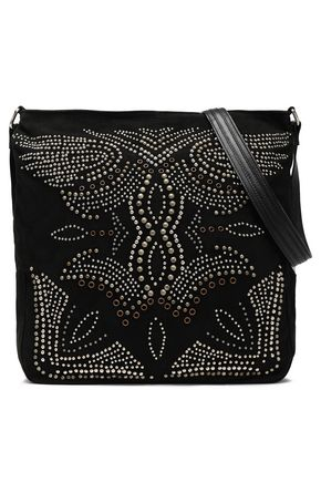ANTIK BATIK Studded suede shoulder bag