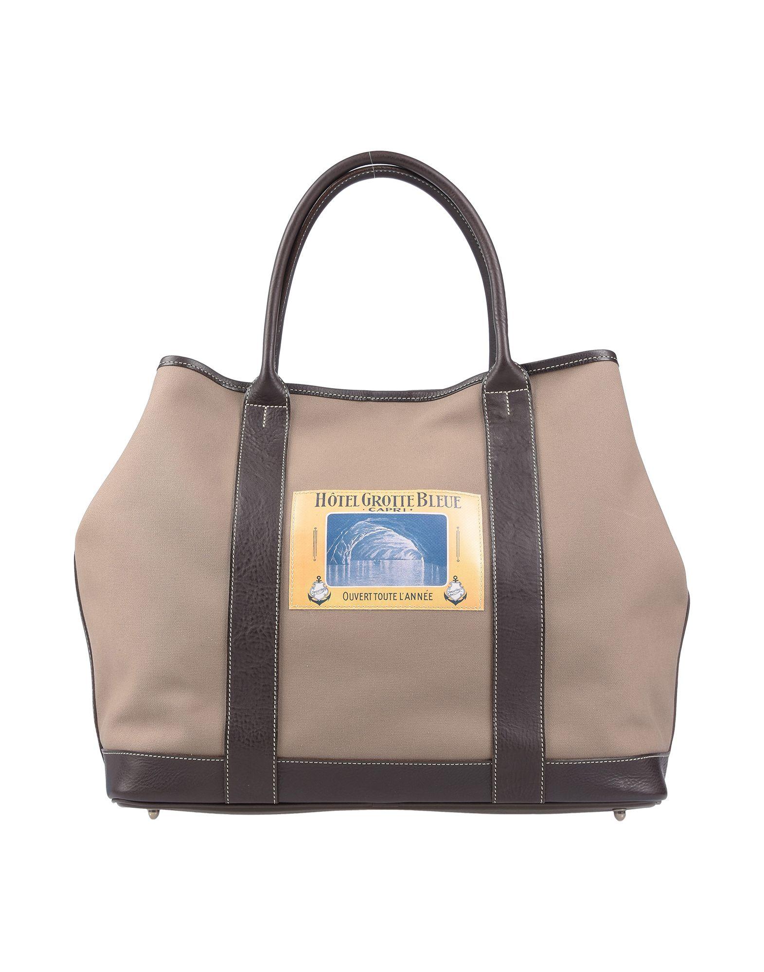 《セール開催中》FELISI レディース ハンドバッグ カーキ 革 / 紡績繊維