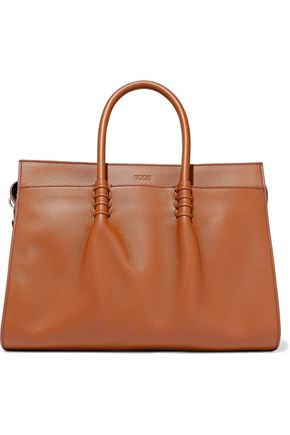TOD'S Ldm pebbled-leather tote