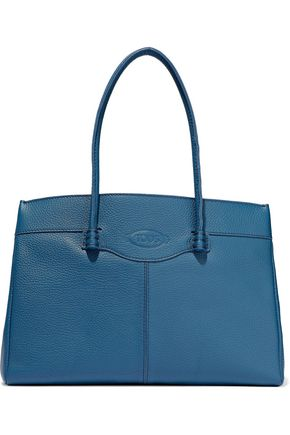 TOD'S Mocassino pebbled-leather tote