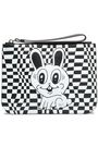 McQ Alexander McQueen Embossed checked leather pouch