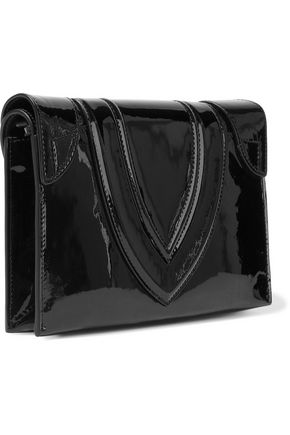 ELENA GHISELLINI Selina patent-leather clutch