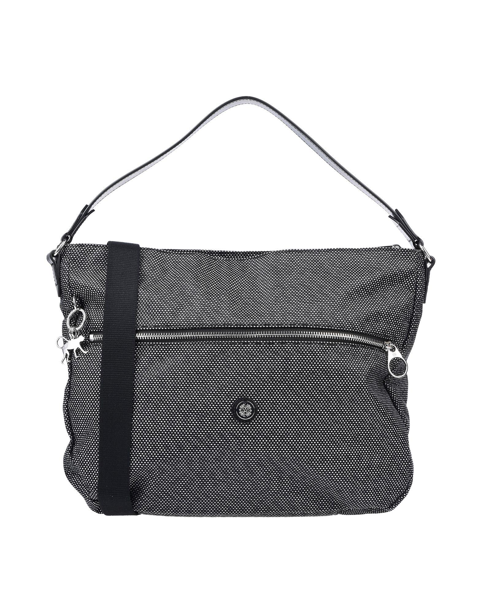 《期間限定セール開催中!》KIPLING レディース ハンドバッグ スチールグレー 革 / 紡績繊維