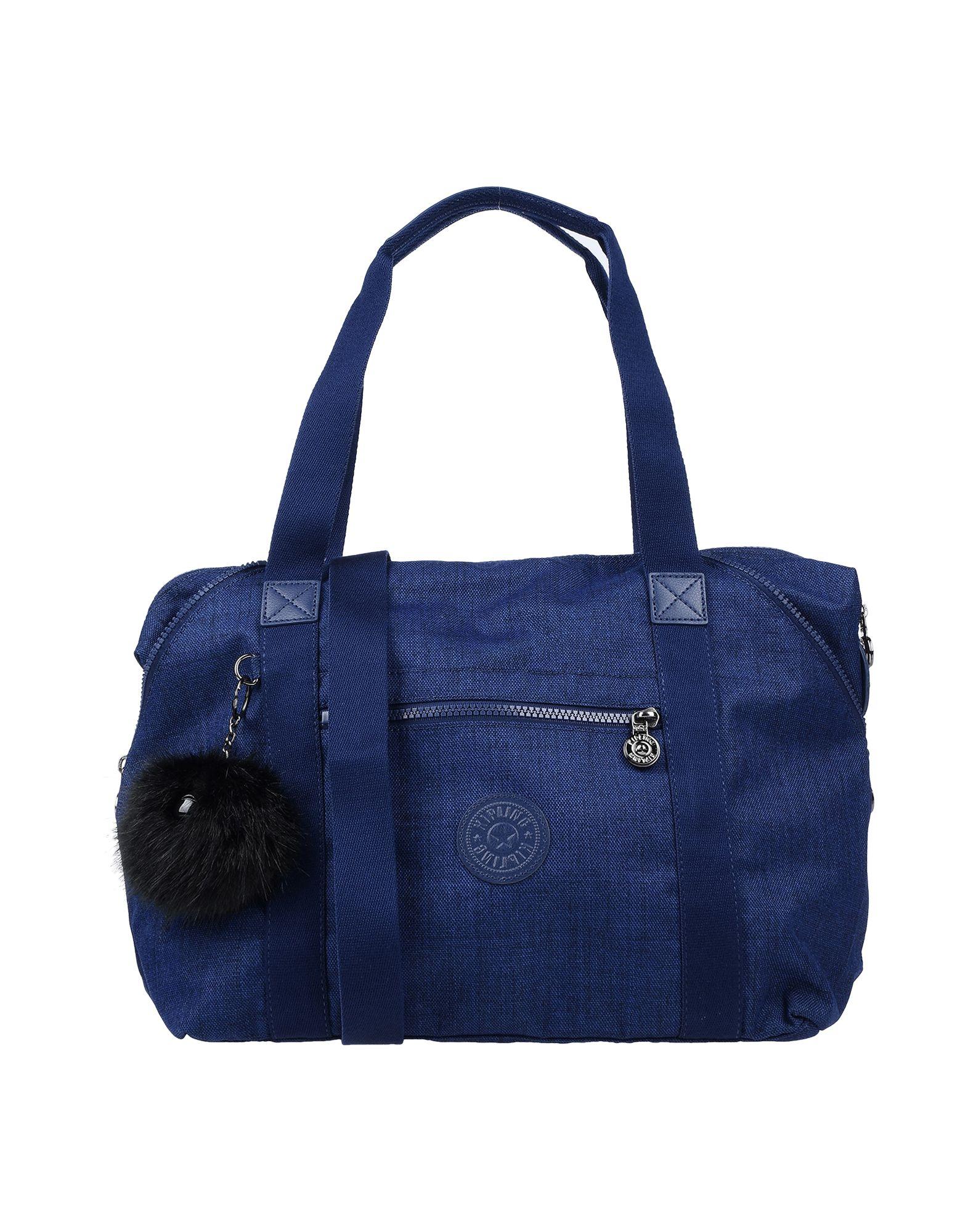 《送料無料》KIPLING レディース ハンドバッグ ダークブルー 紡績繊維