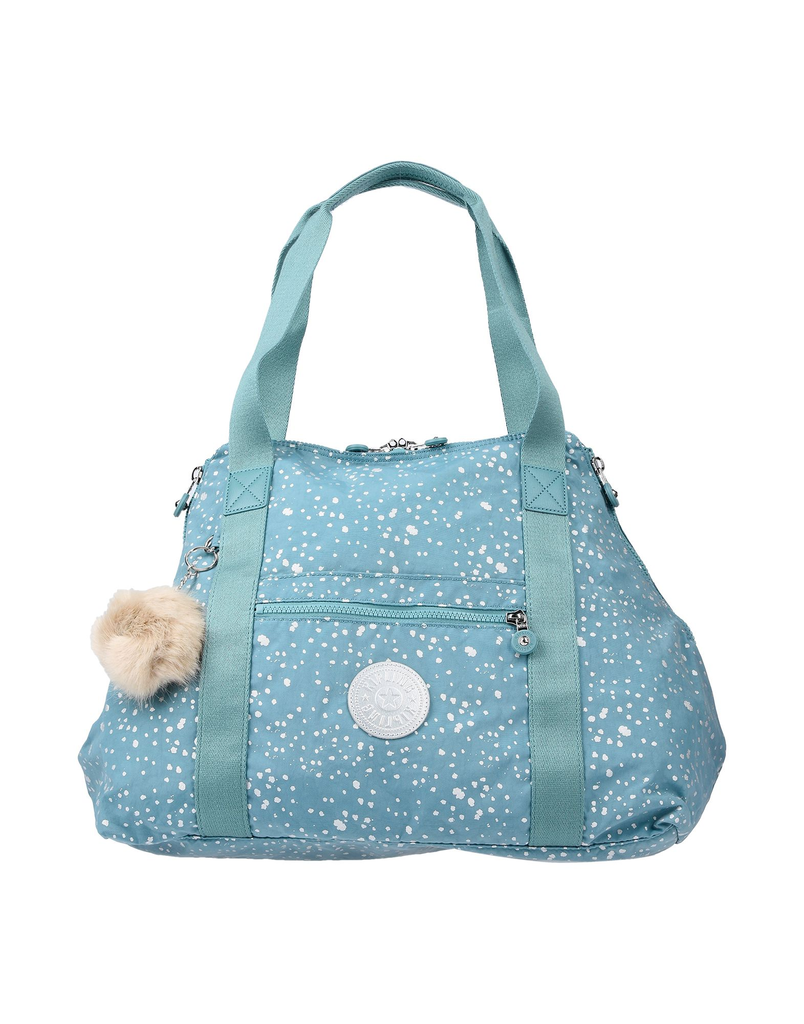 《送料無料》KIPLING レディース ハンドバッグ ブルーグレー 紡績繊維
