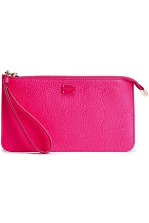 DOLCE & GABBANA Pebbled-leather clutch