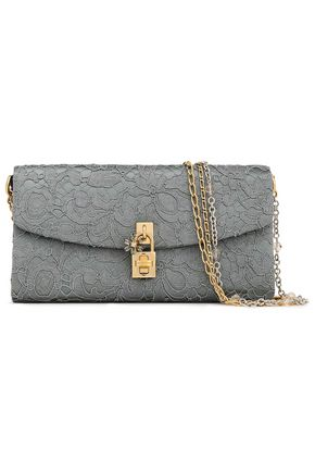 DOLCE & GABBANA Embellished corded lace clutch