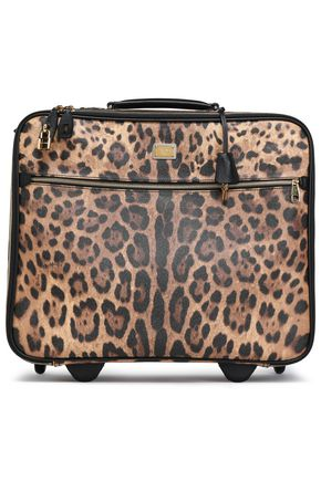 DOLCE & GABBANA | Dolce & Gabbana Leopard-Print Textured-Leather Suitcase | Goxip