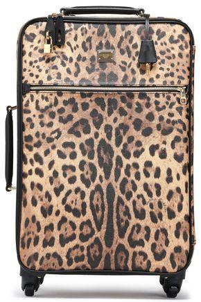 DOLCE & GABBANA | Dolce & Gabbana Leopard-Print Textured-Leather Suitcase | Goxip