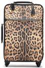 DOLCE & GABBANA Leopard-print textured-leather suitcase