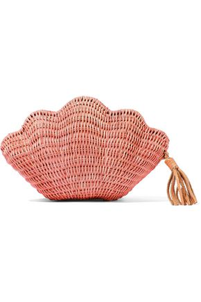 KAYU Jane woven straw clutch