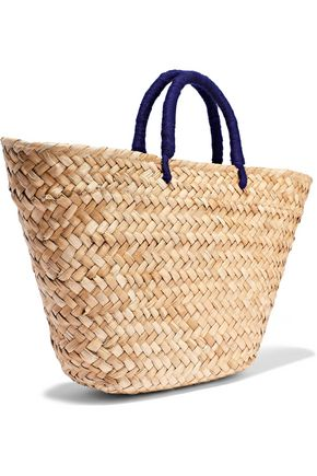 KAYU Taylor embroidered woven straw tote