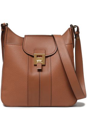 MICHAEL KORS COLLECTION Textured-leather shoulder bag