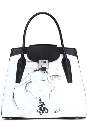 MICHAEL KORS COLLECTION Printed two-tone leather tote