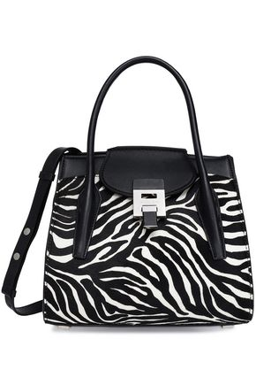 MICHAEL KORS COLLECTION Leather and zebra-print calf hair tote