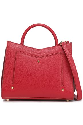 SARA BATTAGLIA Textured-leather shoulder bag