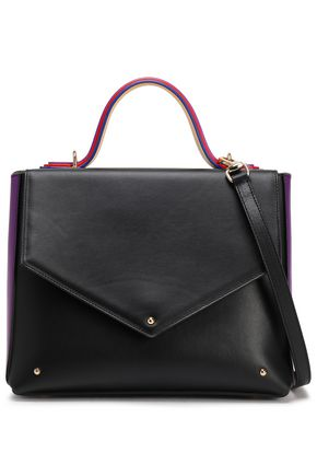 SARA BATTAGLIA Color-block leather shoulder bag