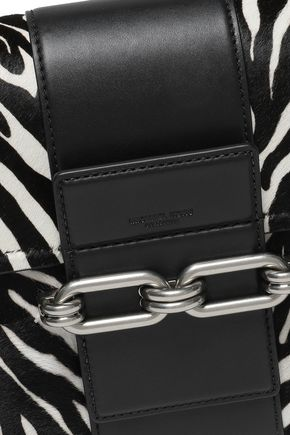 MICHAEL KORS COLLECTION Zebra-print calf hair and leather shoulder bag