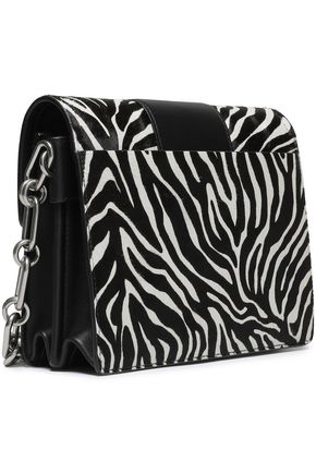 85bd40fed4d649 ... MICHAEL KORS COLLECTION Zebra-print calf hair and leather shoulder bag