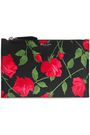 MICHAEL KORS COLLECTION Floral-print leather pouch