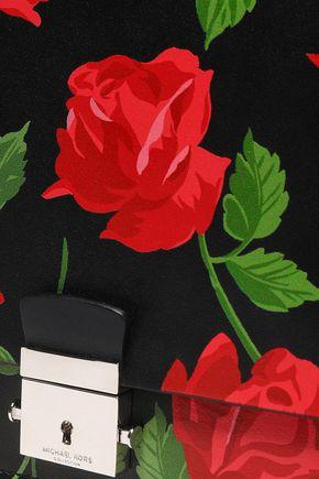 MICHAEL KORS COLLECTION Floral-print leather shoulder bag
