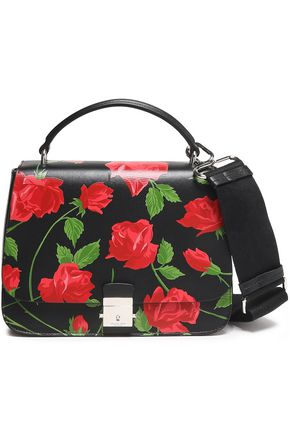 MICHAEL KORS COLLECTION Floral-print leather shoulder bag