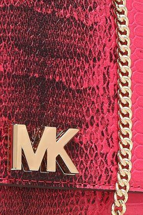 MICHAEL MICHAEL KORS Snake-effect leather clutch