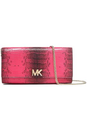 MICHAEL MICHAEL KORS Snake-effect leather clutch
