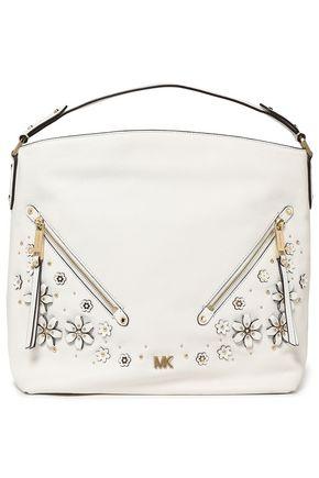 MICHAEL MICHAEL KORS Evie embellished textured-leather shoulder bag