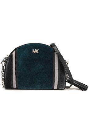 MICHAEL MICHAEL KORS Striped leather shoulder bag