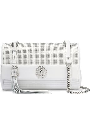 ROBERTO CAVALLI Studded quilted leather shoulder bag