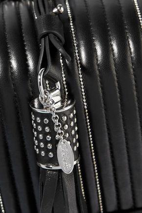 ROBERTO CAVALLI Large bead-embellished quilted leather shoulder bag