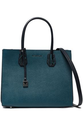 MICHAEL MICHAEL KORS Python-effect and textured-leather tote