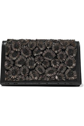ROBERTO CAVALLI Bead-embellished leather shoulder bag