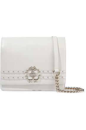 ROBERTO CAVALLI Embellished leather shoulder bag