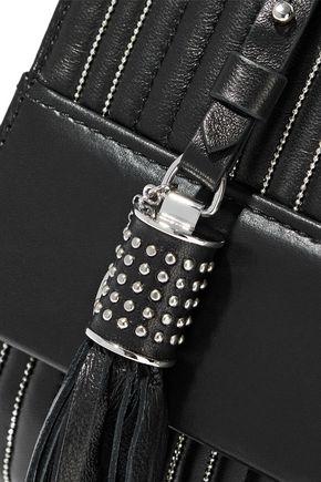 ROBERTO CAVALLI Bead-embellished quilted leather shoulder bag