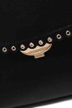 MICHAEL MICHAEL KORS Scallop-trimmed leather shoulder bag