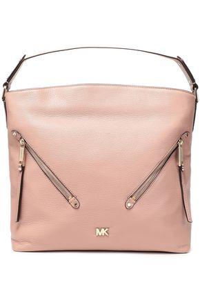 MICHAEL MICHAEL KORS Zip-detailed textured-leather shoulder bag
