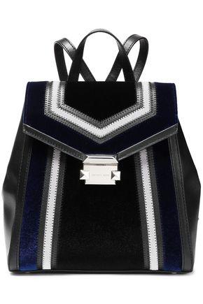 MICHAEL MICHAEL KORS Whitney paneled velvet and leather backpack
