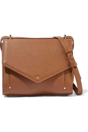 SARA BATTAGLIA Pebbled-leather shoulder bag