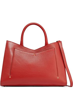 SARA BATTAGLIA Plissé Toy pebbled-leather tote