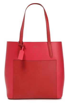 SMYTHSON Paneled leather tote