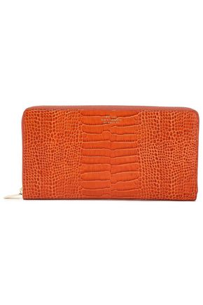 SMYTHSON Croc-effect leather wallet