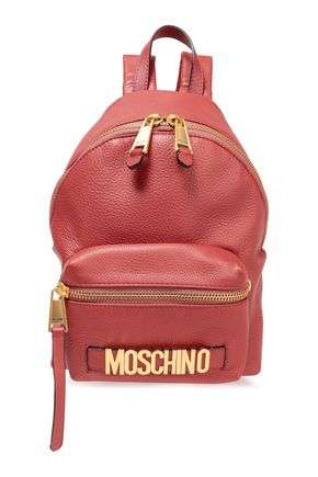 MOSCHINO Textured-leather backpack