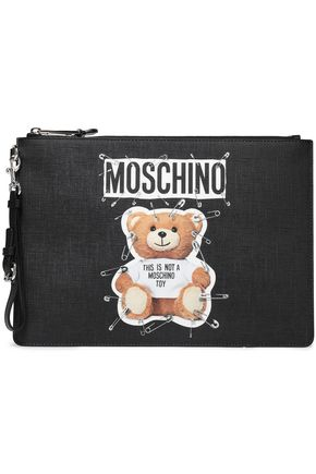 MOSCHINO Printed faux leather pouch