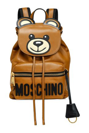 MOSCHINO Appliquéd leather backpack