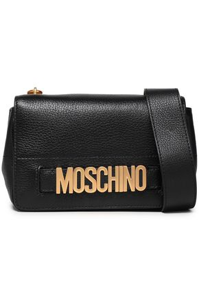 MOSCHINO Textured-leather shoulder bag