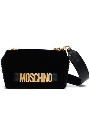 MOSCHINO Velvet shoulder bag