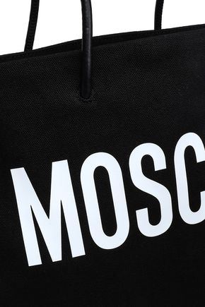 MOSCHINO Printed canvas tote